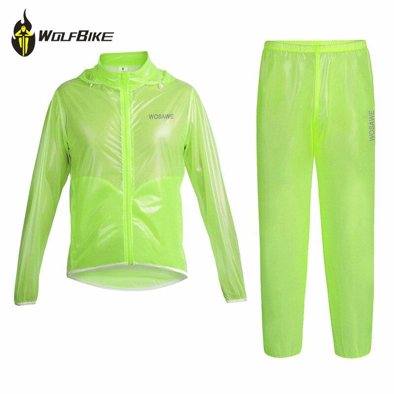 Wolfbike vélo manteau de pluie maillot imperméable vélo vestes course vtt coupe-vent résistant à la pluie léger Kits vêtements