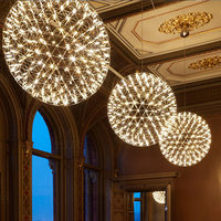 Suspension Lamp Firework LED Pendant Lights Width 20cm 60cm 90cm Guaranteed 100 Free Shipping