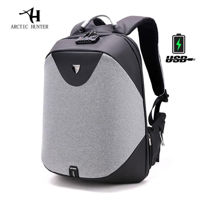 Arctic Hunter New Anti Theft 15 6 Laptop Men Bag School Password Lock Backpack Waterproof Casual