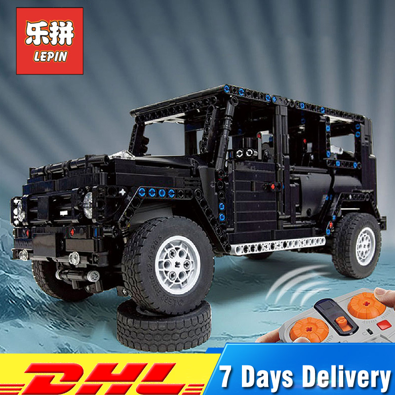 Lepin Technic 20100 Legoing MOC 2425 G500 AWD Wagon RC moteurs SUV modèle hors route véhicules blocs de construction camions briques bricolage jouets