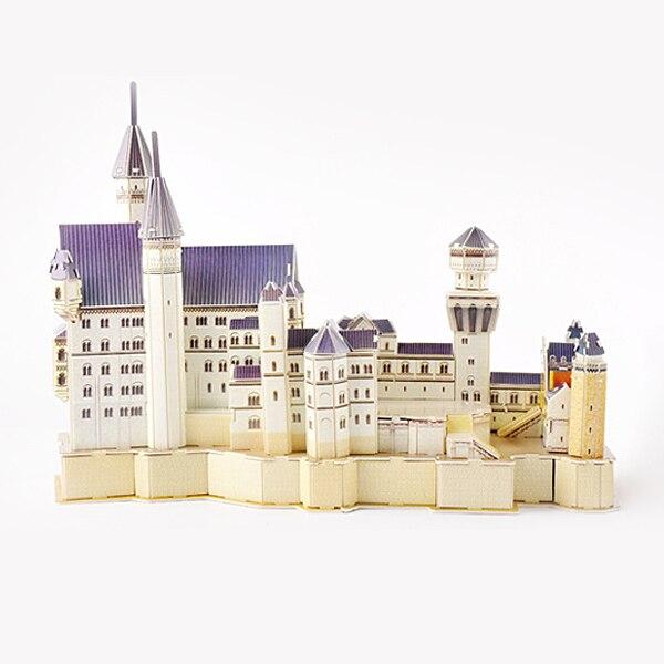 D526 трехмерная головоломка бумаги модель здания игрушка Белый лебедь замок DIY Развивающие игрушки для детей