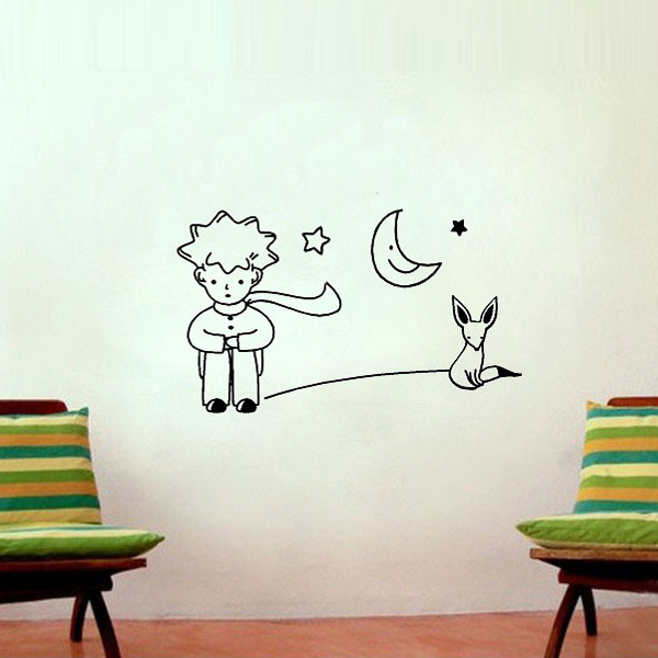 The Little Prince Fox Moon Star Vinyl Wall Stickers For Kids Rooms Wallpaper Quote Baby Girl Bedroom Decals Home Decor In From