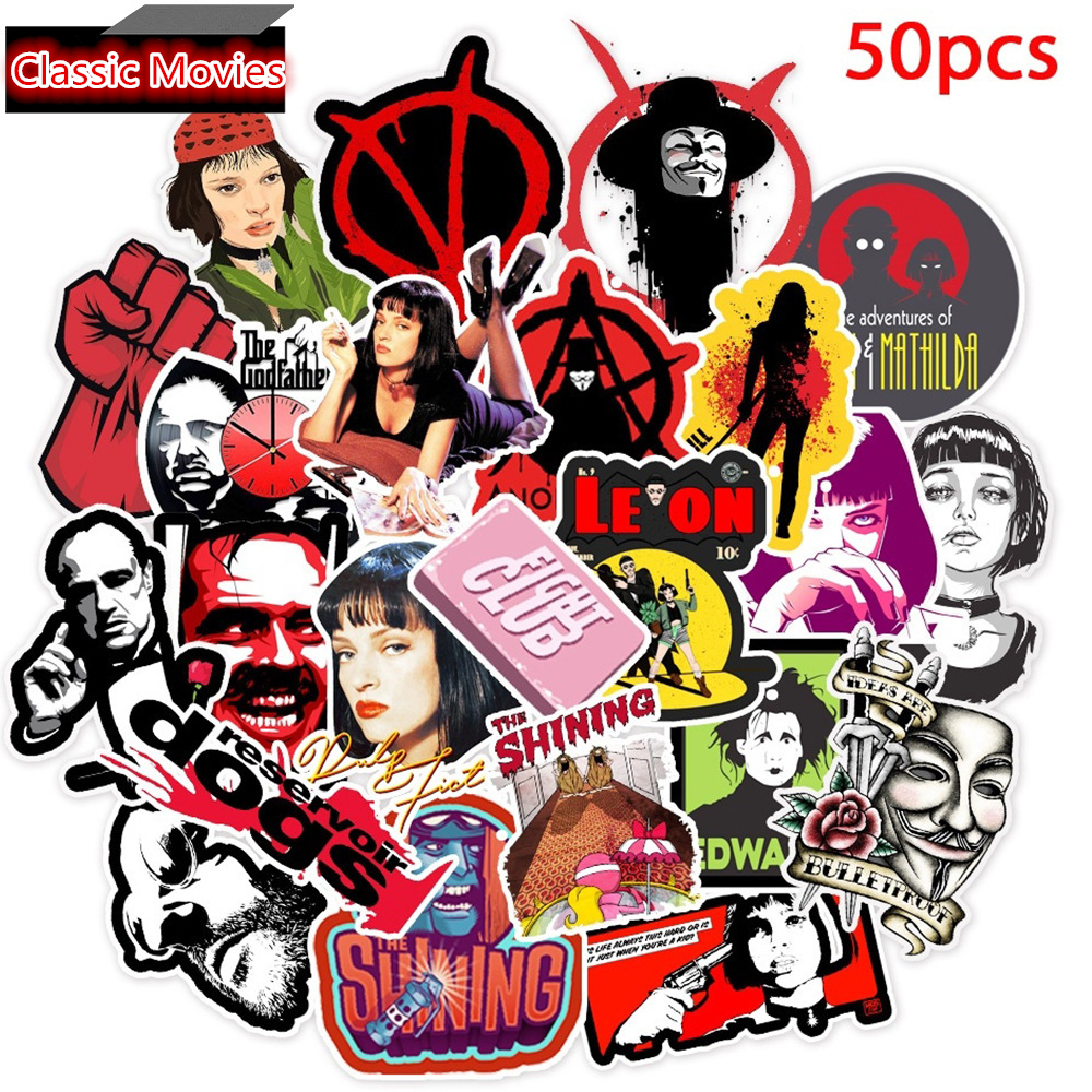 50Pcs Classic Movies V For Vendet Sticker Luggage Laptop Guitar Surfboard Skateboard Bicycle Fridge DIY Photo Albums Sticker Toy