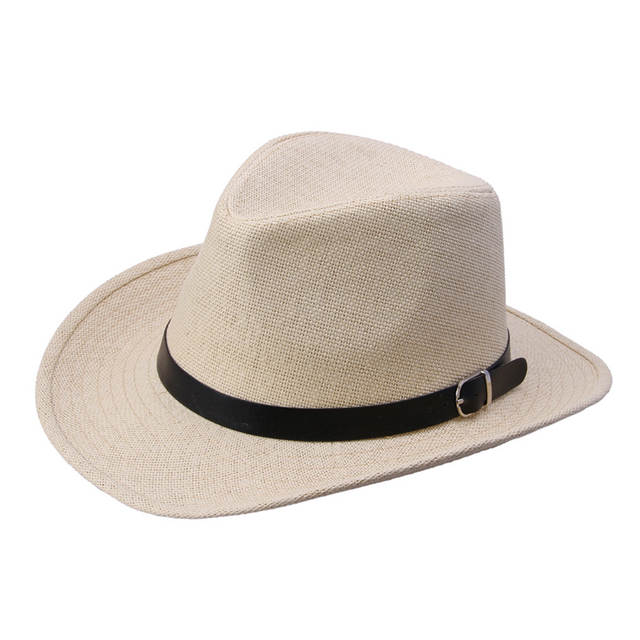 36612faea5 Men Women Cool Western Cowboy Hats Gentleman Cowgirl Jazz Church Sombrero  Sun-proof Panama Caps Retro Vintage Accessories Buckle