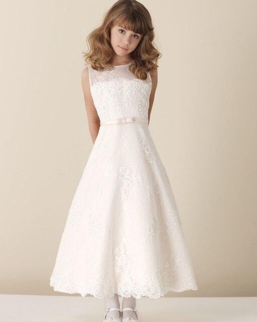 2014 кружева первое причастие платья платья линия девушки одеваются первое причастие платья свадебные платья португезе Comunhao