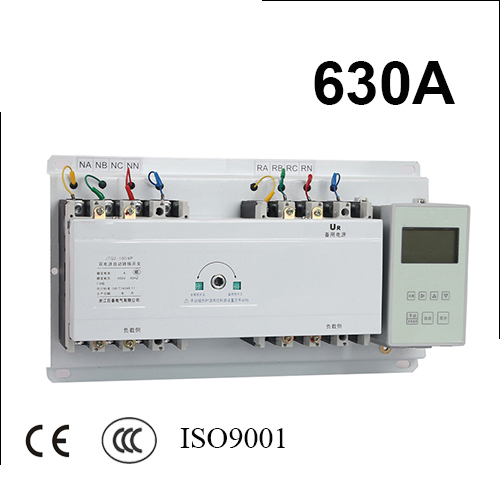 4 poles 3 phase ats 630A  automatic transfer switch with English controller