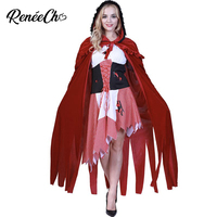 Halloween Costume Women Cartoon Adult Little Red Riding Hood Costume Red Fancy Dress And Cloak Suit Christmas Cosplay adulte