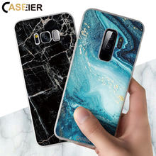 CASEIER الرخام الهاتف حقيبة لهاتف سامسونج غالاكسي A7 2018 S10 S9 S8 زائد حقيبة لهاتف سامسونج ملاحظة 8 9 S7 A50 A70 غطاء فوندا couque(China)