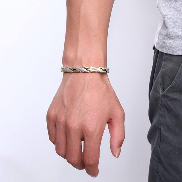Magnetic Germanium Stainless Steel Bracelets for Women Men