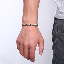 Health Energy Magnetic Ion Germanium Bracelet Men Pulseras Hombre Chain Link Stainless Steel Bracelet Bangle Women Men