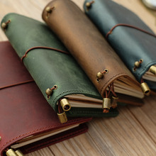 Alice Story 100% Genuine Leather Multi Function Travelers Notebook Diary Journal Vintage Handmade Cowhide Notebook Planner
