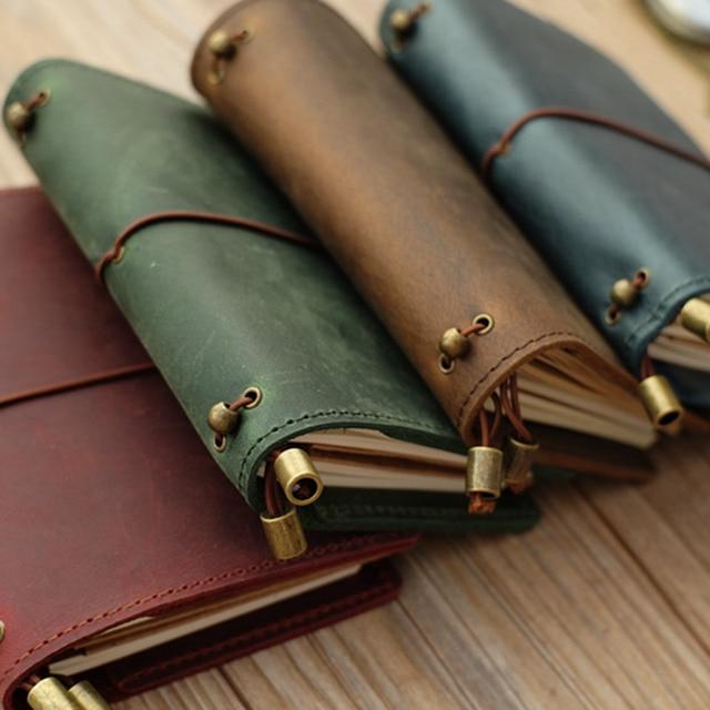 Alice Story 100% Genuine Leather Multi Function Travelers Notebook Diary Journal Vintage Handmade Cowhide Notebook Planner