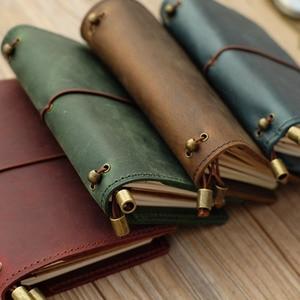Image 1 - Alicia Story 100% cuero genuino multifunción diario de viajero diario Vintage hecho a mano cuero cuaderno planificador