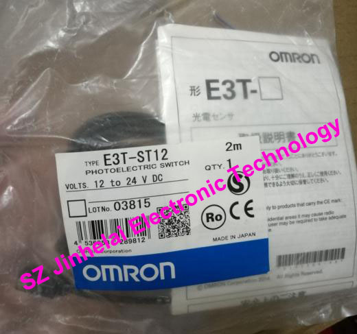 New and original E3T-FT12 OMRON Photoelectric sensor Photoelectric switch 12-24VDC 2M dhl ems 2 lots new omron e3t fd14 diffuse reflective photoelectric switch sensor 12 24vdc 2m