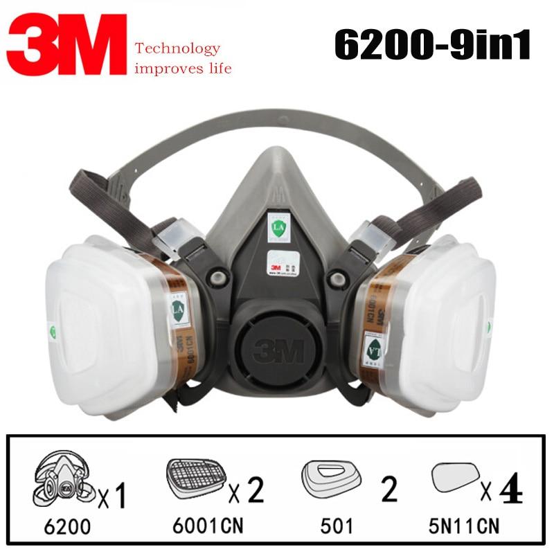 3m 6200 medium respirator face piece 1/2 mask