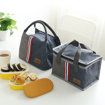 Denim Large Ice Cooler Bags Insulated Pack Drink Food Thermal Leisure Handbag Women's Kid's Picnic Pouch Lunch Box Accessories 2 layers family cooler bags thermal iced drink lunch box picnic food storage shoulder handbag pouch accessories supplies product