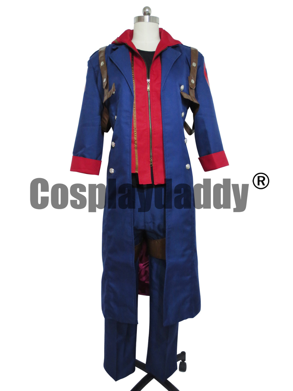 Devil May Cry 4 Nero men's blue windbreaker Cosplay Costume larsen nero blue