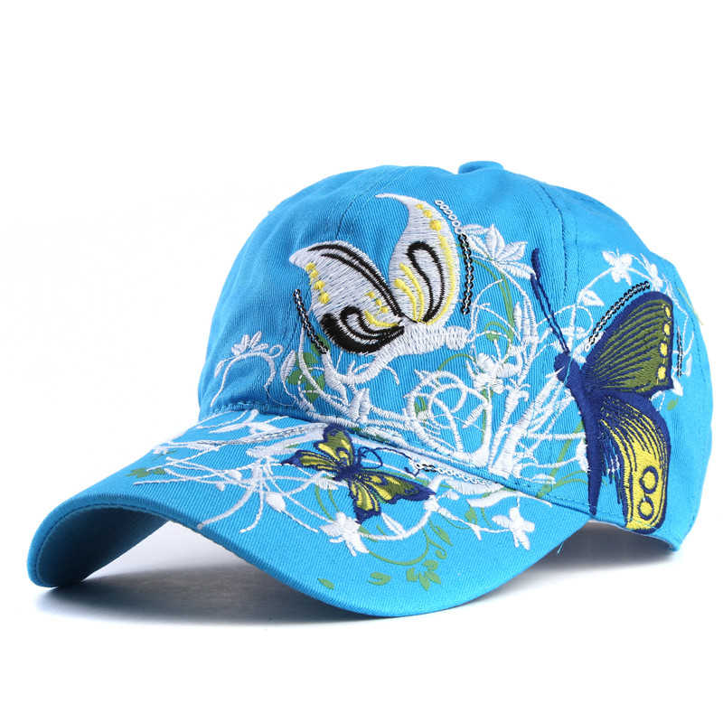 46729de35 US $6.36 40% OFF|xthree High quality baseball hat cap Butterflies and  flowers embroidery cotton caps Casual hats snapback cap fashion for  women-in ...
