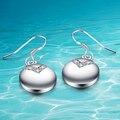 Итальянские модные серьги. 925 стерлингового серебра серьги. классический простой круговой кулон. женщины серьги