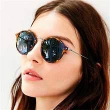 Retro gafas de sol de las mujeres 2020 gafas círculo gafas de sol pequeñas hombres tonos leopardo espejo gafas de sol gafas Vintage