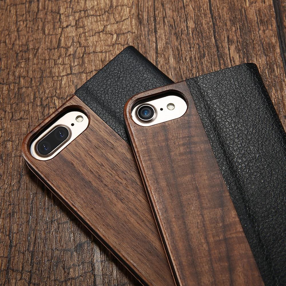 Kisscase bambu balik phone case untuk iphone 11 8 7 6 6 s kayu - Aksesori dan suku cadang ponsel - Foto 4