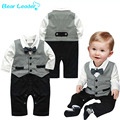 Bear Leader  Boy Romper New Baby Boys Romper Gentleman Modelling Lnfant Long Sleeve Climb Clothes Kids Body Casual clothing sets