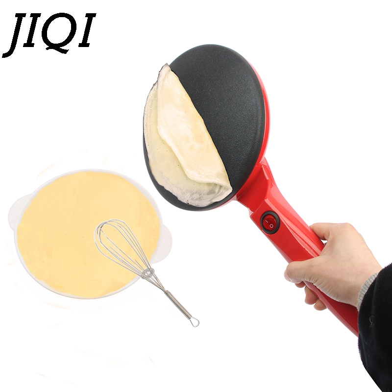 JIQI <font><b>Electric</b></font> Pie <font><b>Baking</b></font> <font><b>Pan</b></font> Non-stick Househeld Crepe Maker Pancake Cooking Machine Chinese Spring Roll Biscuit Pizza Griddle image