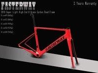 2018 дизайн супер легкий FASTERWAY классический набор углеродных дорожных Рам D тормоз углерода велосипед рамки: комплект + подседельный вилка заж