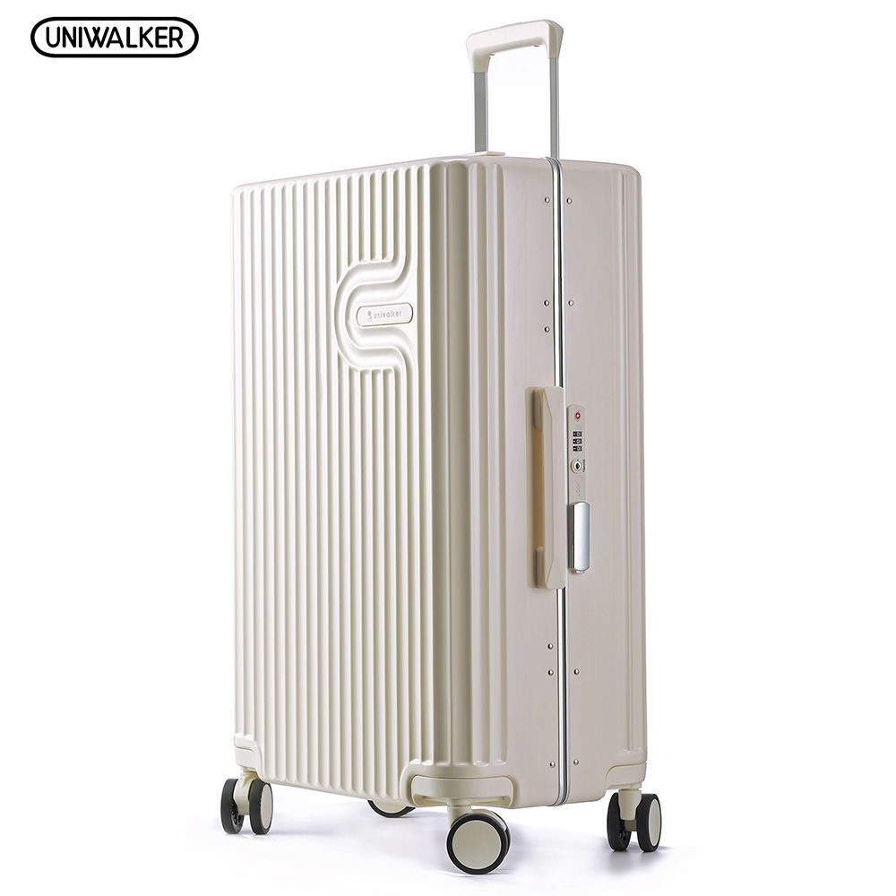 UNIWALKER 202426 PC Unisex Rolling Hardside Luggage Travel Suitcase Carry On Luggage with TSA Lock Spinner Wheels uniwalker 2022 24 26 drawbars