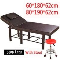 Стабильный профессиональный спа массажные столы складной салон мебели ПУ кровать толстый Красота массажный стол с табуретками Регулируем