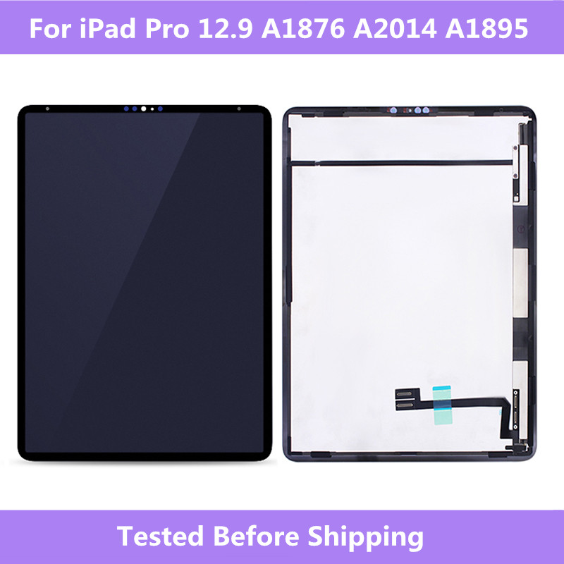 "LCD Full Screen Black LCD display+Touch screen Assembly For iPad Pro 12.9"" 3rd Gen 2018 A1876 A2014 A1895 Tablet Full Screen-in Tablet LCDs & Panels from Computer & Office    1"