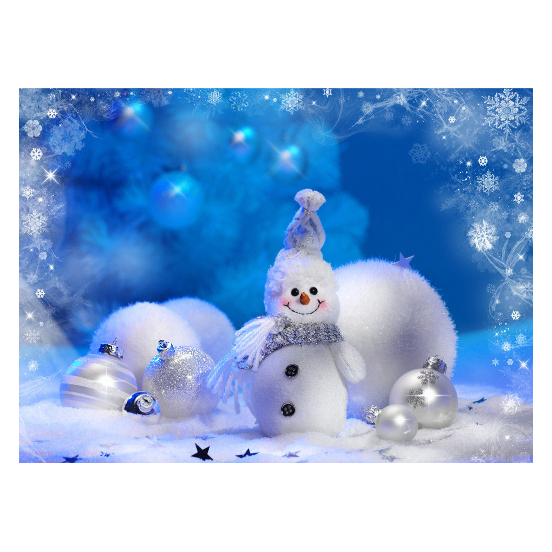 Christmas snowman photography photo prop Studio background Vinyl backdrop 7X5FT christmas background pictures vinyl tree wreath gift window child photocall fairy tale wonderland camera photo studio backdrop