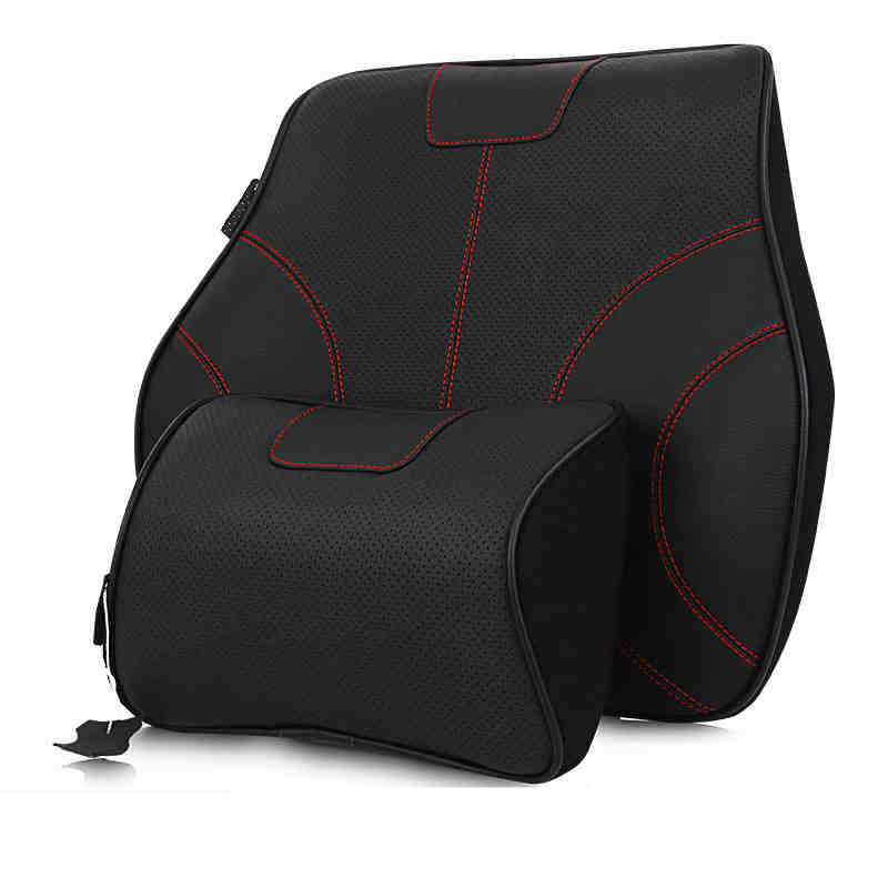 universal car leather neck pillow super soft memory foam auto seat cover head neck rest cushion. Black Bedroom Furniture Sets. Home Design Ideas