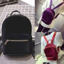Backpack Soft Velvet Small Travel Women Backpacks