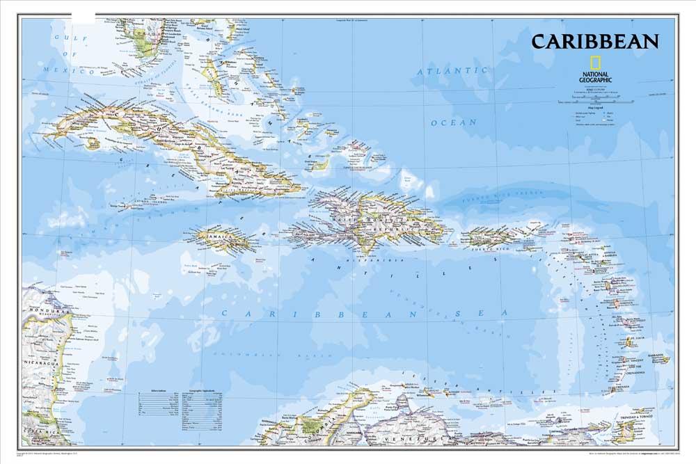 Гореща разпродажба RZ-DT-168 Vintage Карибска карта Картина с маслени бои Платно Снимки Декоративна живопис Стена Арт занаят Без рамка за домашен декор