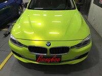 2019 новый продукт 1,52*18 м Размер глянцевый жемчуг волшебный лимонный зеленый автомобиль украшение пленка виниловая оберточная
