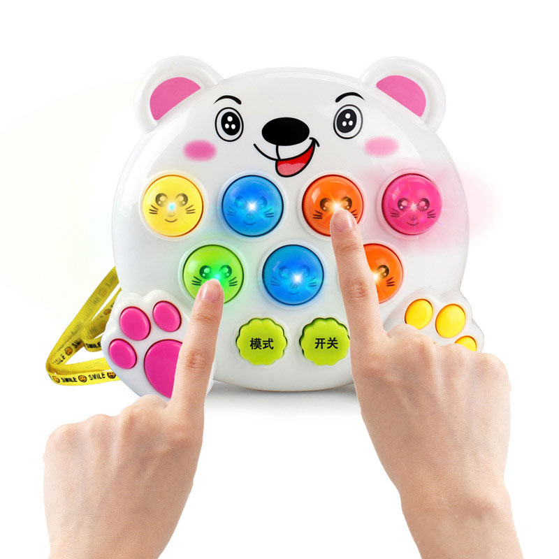 Mole Battle Music Play Notes Hit Game Toy Attack Poke Electronic Plastic Baby Toys Birthday Christmas Gift