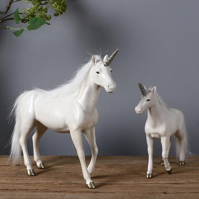american retro unicorn sculpture