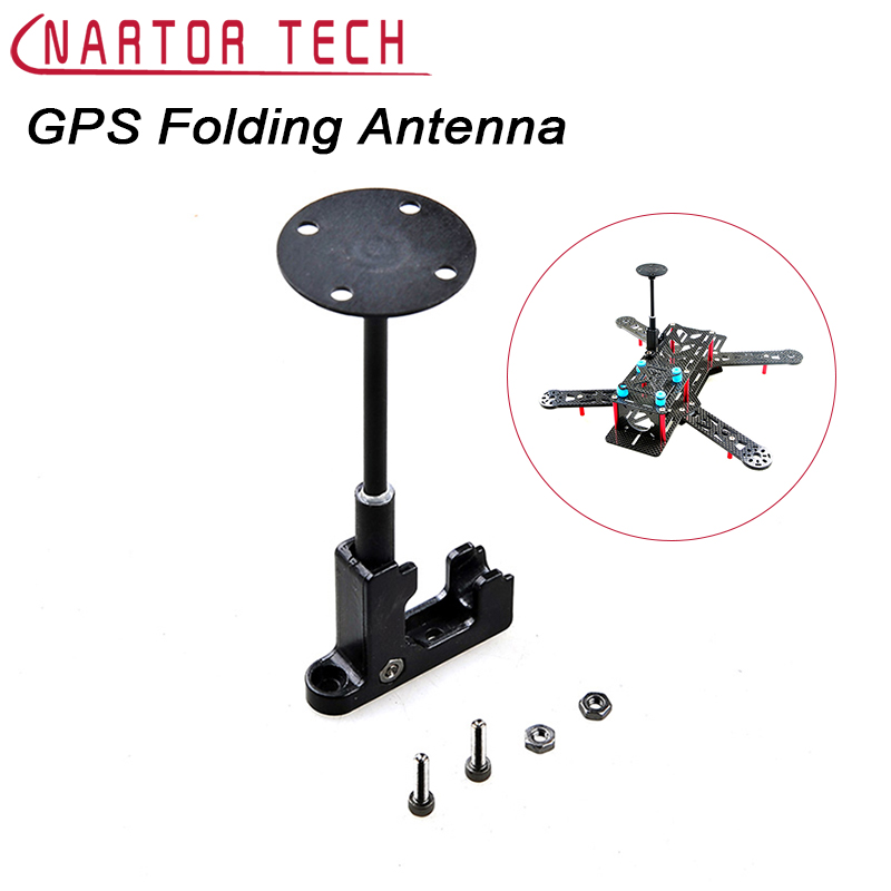 GPS Folding Antenna Mount Support Holder for QAV250 RC Multicopters 69YM Free Shipping new gps anti interference shield stand holder antenna mount stent case for wkm apm naza zero model aircraft accs necessary