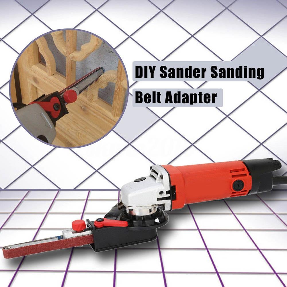 Sander Sanding Belt Adapter Head Convert M10 for 100mm 4Inch Electric Angle Grinder--M25 sander machine sanding belt adapter head convert m10 with sanding belts for 4 electric angle grinder mayitr woodworking tools