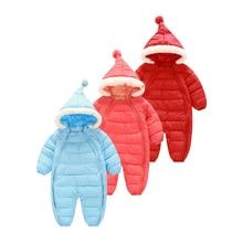 Зима Новорожденных детская Одежда толстые теплые Комбинезоны Детская Одежда Хлопка мягкой Комбинезоны Для Новорожденных ZL0559