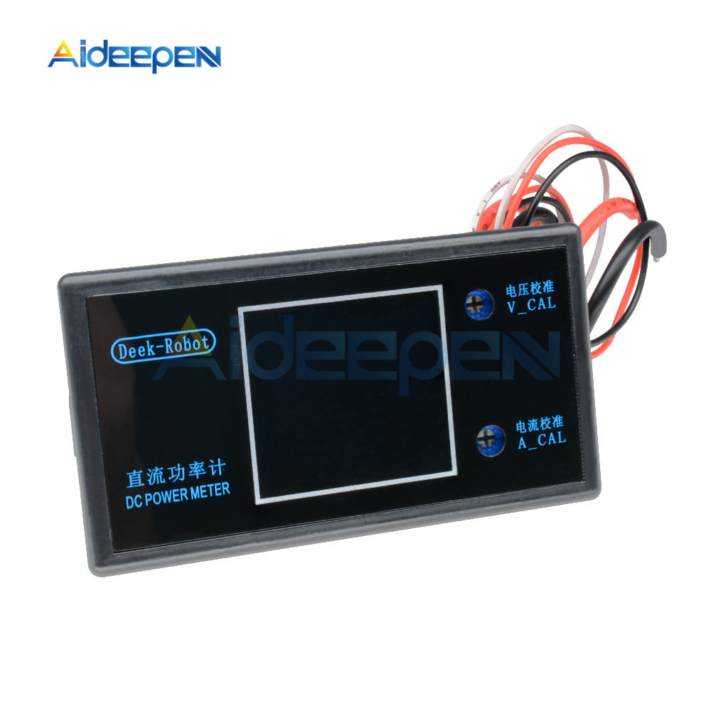 DC 0-100V 0-50V 5A 10A LCD Digital Voltmeter Ammeter Wattmeter Voltage Current Power Meter Volt Detector Tester 250W 1000W 31
