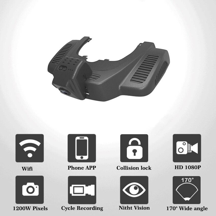 For Benz GLE 350 2015 Car Dvr Mini Wifi Camera FHD 1080P Driving Recorder Car Dash Cam Video Recorder Black Box for vw eos car driving video recorder dvr mini control app wifi camera black box registrator dash cam original style