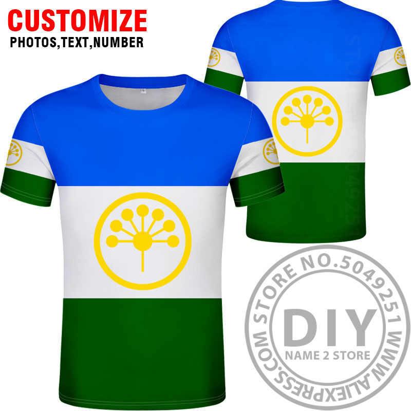 BASHKORTOSTAN camisa gratis nombre personalizado número Ufa camiseta impresión bandera palabra Rusia Rossiya Salavat Beloretsk 0 ropa