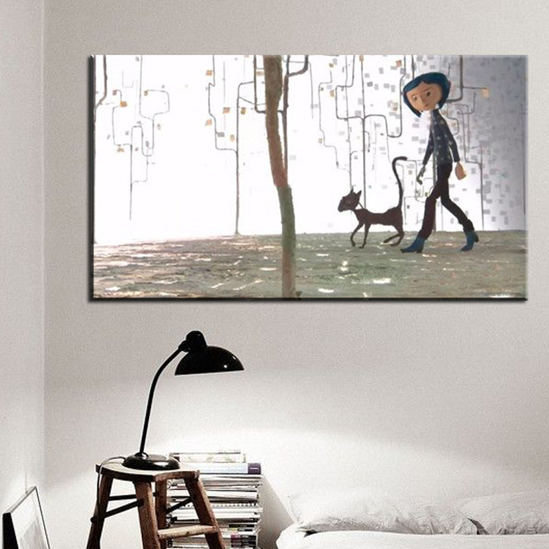 Anime Posters Coraline Modular Pictures Diy Oil Painting By Numbers Wall Art Canvas Pictures Decoration Bedroom Painting Calligraphy Aliexpress