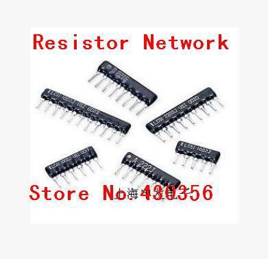 20pcs Resistor Network A09-103g 10k 100k 1k 4k7 470r 330r 220r 100r Ohm Dip 9pin 10pin 7pin 5pin
