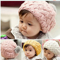 Baby hat kids baby knitted beanie hats,New faux rabbit fur gorros bebes crochet beanie toddler cap for 7 months-3 years old girl