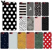 Yinuoda Polka Dots Art พิมพ์ Silver Star สำหรับ iPhone 11 PRO MAX 6S 6plus 7 8plus X XS MAX 5 5S XR(China)