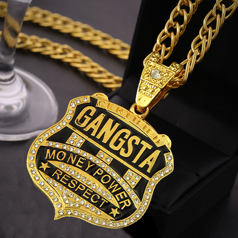 Custom Name necklace Personalized Nameplate necklace 24K real gold