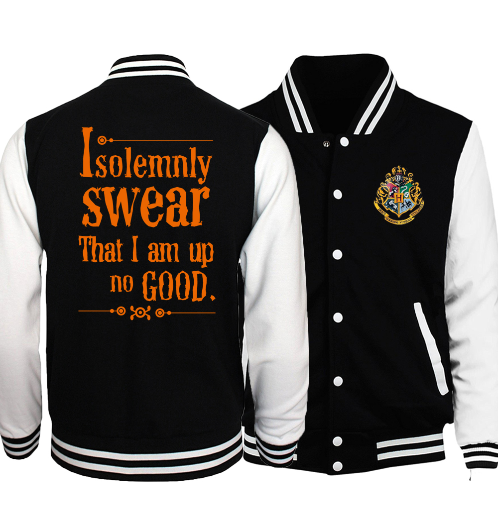 I Solemnly Swear That I Am Up To No Good Baseball Jacket Men Letter Print Baseball Uniform V for Vendetta Jackets Star Wars Coat